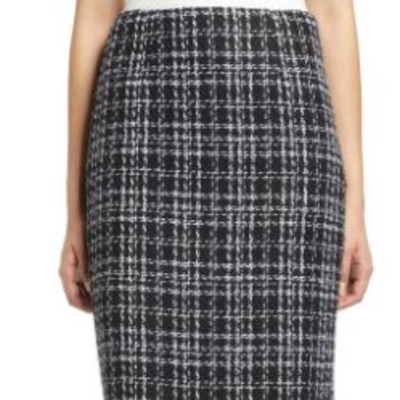 Halogen Dresses & Skirts - Halogen plaid tweed skirt NWOT Size